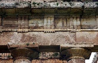 Gutta - Image: Metope Temple of Poseidon Paestum Italy 2015 (2)
