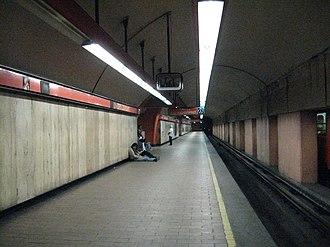 Metro San Joaquín - Northbound platform