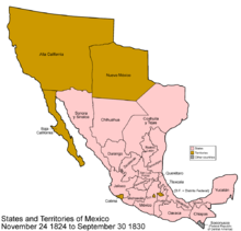 context map showing the mexican state of nuevo mxico in much of the first decade after mexican independence map represents territorial extent from