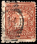 Mexico 1895 3c irregular perforation Sc244c.jpg