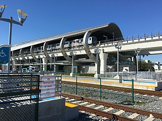 Miami Airport Station - View of the station's Amtrak and Metrorail platforms
