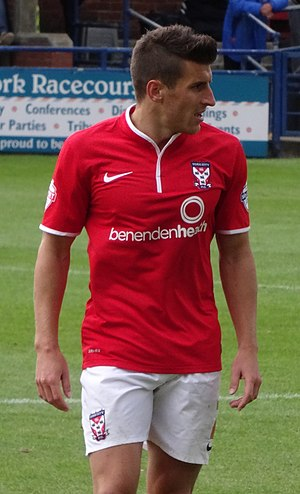 Michael Coulson (footballer) - Coulson playing for York City in 2014