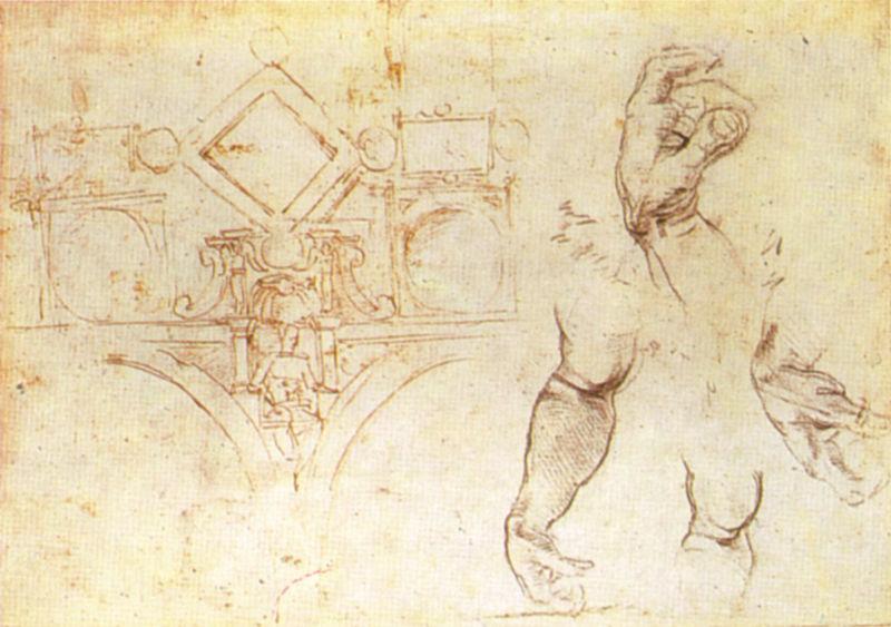 File:Michelangelo, schizzo del primo progetto della volta della sistina, british museum.jpg