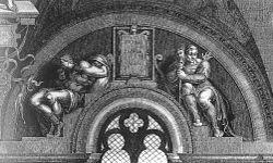Fares esrom e aram perduta incisione di adamo ghissi for Decorazione quattrocentesca della cappella sistina