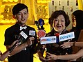 Mickey Huang and Zhou Yo at Golden Bell Awards 50th Anniversary Exhibition 20150912 2.jpg
