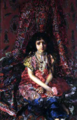 Mikhail Vrubel - The Girl Against the Background of Persian Carpet.png