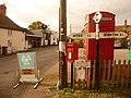 Milton on Stour, finger-post, phone box and postbox - geograph.org.uk - 1541775.jpg