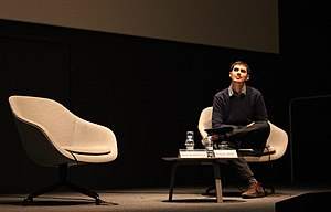 "Miquel Missé Sánchez listening to Jack Halberstam's lecture on ""Trans* Bodies"" at CCCB (Centre de Cultura Contemporània de Barcelona), February the 1st 2017.jpg"