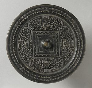 Bronze mirror - An Eastern Han-period TLV mirror