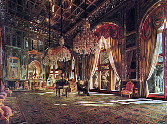Golestan Palace - Mirror Hall, painted by Kamal ol Molk
