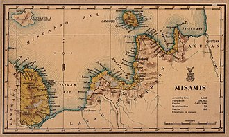 Misamis Occidental - Image: Misamis province 1918 map