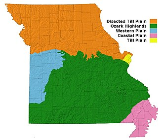 Geography of Missouri - Major physiographic provinces of Missouri