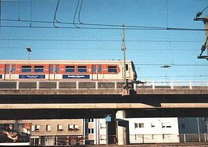 Frankfurt West station - Elevated section