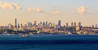 Levent neighbourhood and one of the main business districts of Istanbul, Turkey
