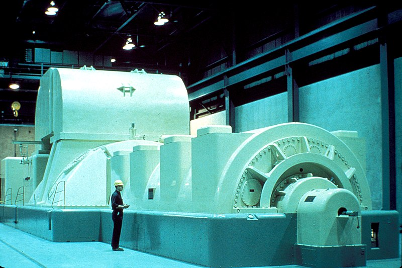 File:Modern Steam Turbine Generator.jpg
