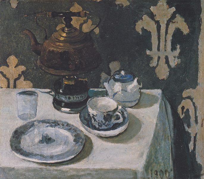 File:Modersohn-Becker - Stillleben mit blauweißem Porzellan und Teekessel.jpeg