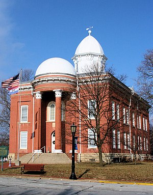 National Register of Historic Places listings in Moniteau County, Missouri - Image: Moniteau County Courthouse
