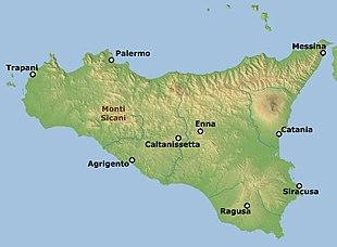 Cartina Sicilia Mondello.Monti Sicani Wikipedia