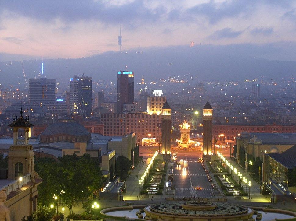Montjuic Placa Espanya Barcelona