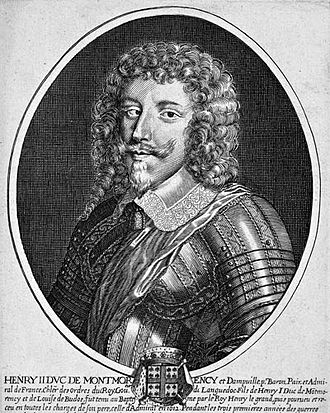 Henri II de Montmorency - Engraving by Pierre Daret (1610-1675)