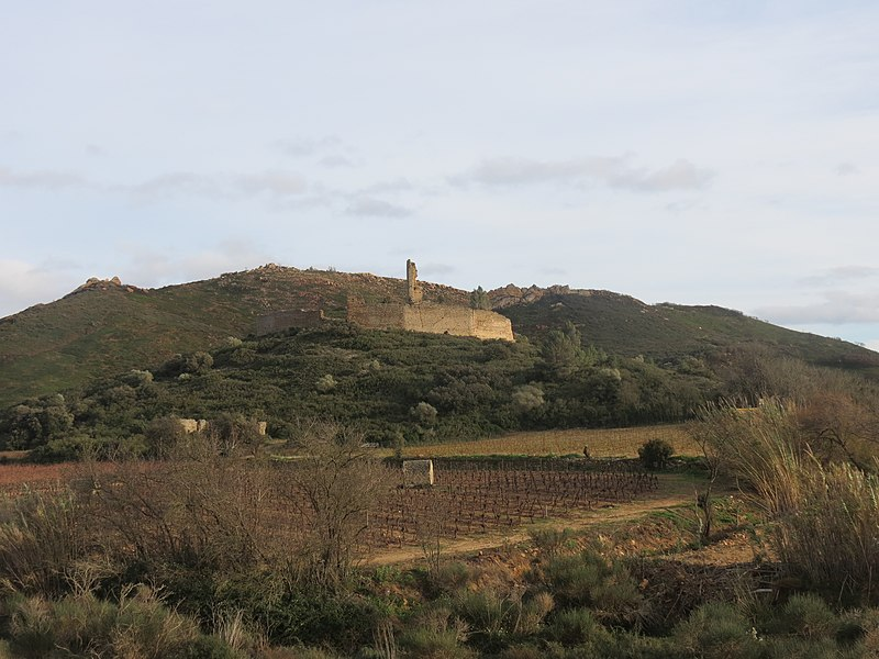 Château de Saint-Pierre-des-Clars, Montredon-des-Corbières, Aude, Languedoc-Roussillon, France.   Camera location  43°10′09.12″N, 2°55′28.48″E  View this and other nearby images on: OpenStreetMap - Google Earth    43.169200;    2.924578
