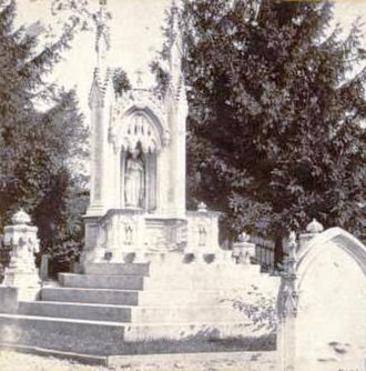 Green-Wood Cemetery - Image: Monument of Miss Charlotte Canda, Battle Avenue, by E. & H.T. Anthony (Firm) 4 crop