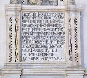 Guillaume de Bray - Inscription on Monument  of Cardinal de Bray