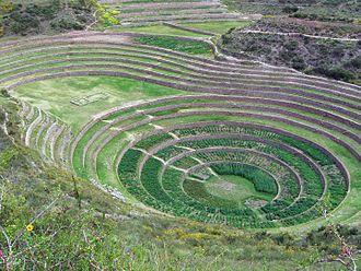 Andén - Andenes at Moray, Peru.