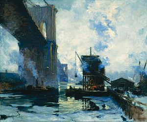 Jonas Lie (painter) - Image: Morning On The River By Lie
