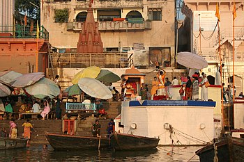 English: Morning Ganga Aarti, Varanasi.