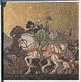 Mosaik Koenigsallee 16 (Grune) Aufbruch zur Jagd unter Kurfürst Joachim II vom Jagdschloss Grunewald&Max Koch&1910.jpg