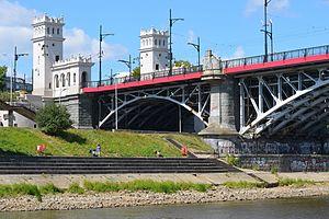 Poniatowski Bridge - Renovated small towers as of 2013.