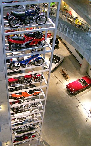Barber Motorsports Park - Motorcycle stack display in Barber Vintage Motorsports Museum
