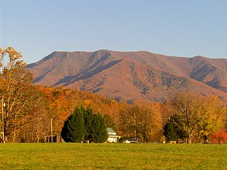Mount Cammerer - Mt. Cammerer, looking south from Cosby, Tennessee
