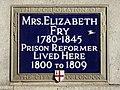 Mrs. Elizabeth Fry 1780-1845 Prison Reformer lived here 1800 to 1809.jpg