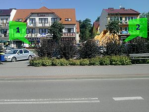 Hotelling's law - Two pharmacies on the main street in Mrzeżyno. Possibly an effect of Hotelling's location competition.