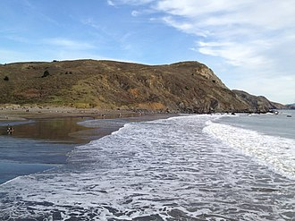 Muir Beach, California - Waves on Muir Beach