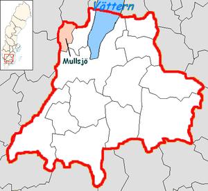 Mullsjö Municipality - Image: Mullsjö Municipality in Jönköping County