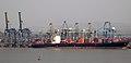 Mumbai container terminal from Elephanta Island.jpg