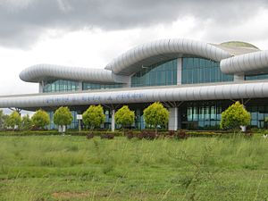 Mysore Airport - Close view of the terminal
