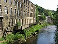 Mytholmroyd - Clog Mills and River Calder - geograph.org.uk - 1321787.jpg
