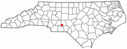 Location of Mount Gilead, North Carolina