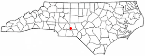Mount Gilead, North Carolina - Image: NC Map doton Mount Gilead