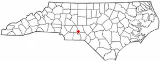 Mount Gilead, North Carolina - Image: NC Map doton Mount Gilead