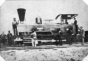 NGR 2-6-0T Durban & Pietermaritzburg - The engine Durban, c. 1878