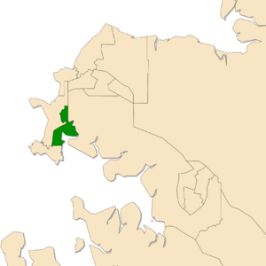 Electoral division of Fong Lim - Location of Fong Lim in the Darwin/Palmerston area