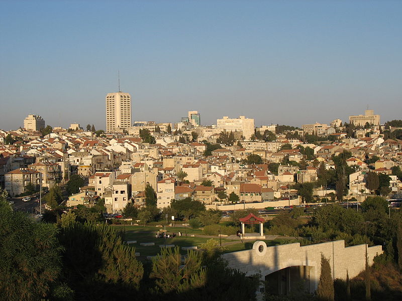 View of Nachlaot from Gan Sacher