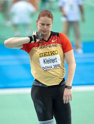 Track and field at the 1999 Military World Games - Nadine Kleinert won shot put gold for Germany with a military world best.