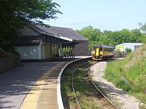 Narberth railway station (Pembrokeshire) - Image: Narberth Railway Station