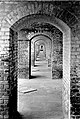 Narrow archways (communication arches) between casemates (at Fort Jefferson) are close to parade ground. These are on ground (558b8f1a8351487390814c55819891b6).jpg